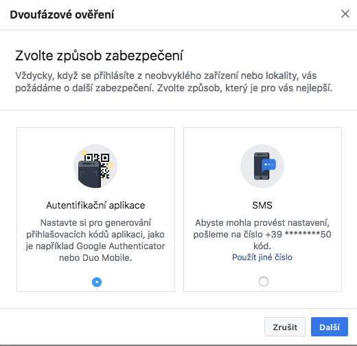 facebook přihlášení mobil