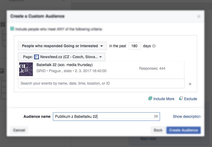 Facebook umożliwia targetowanie reklam na osoby zainteresowane danym wydarzeniem