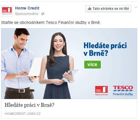 Nevhodný příspěvek od Home Creditu