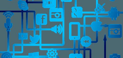 Schéma propojení internetu